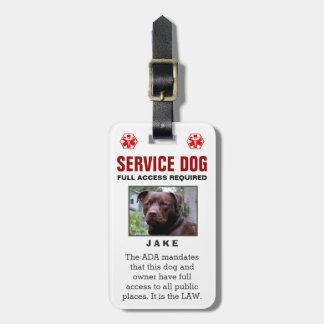 サービス犬-フルアクセスの必須のバッジ ラゲッジタグ