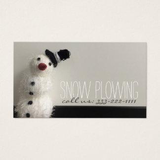 サービス雪だるまの写真の名刺を耕す雪 名刺