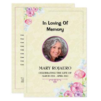 サービス・プログラムカードの葬儀の順序 カード