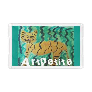 """サービングの皿のトラ""""artpetite """" アクリルトレー"""
