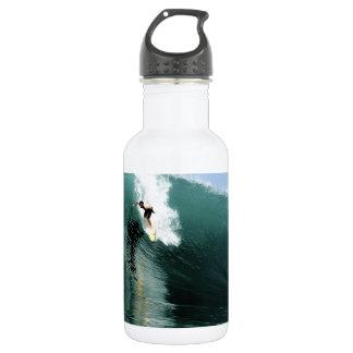 サーフの大きい緑の極度なサーフィンの波 ウォーターボトル