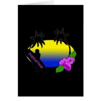 サーファーおよび花 カード