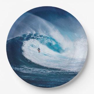 サーファーのサーフィンの海洋波のWatersportの紙皿 ペーパープレート