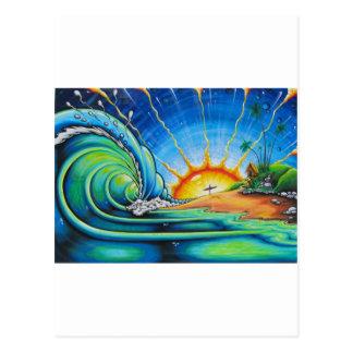 サーファーのデザイン ポストカード