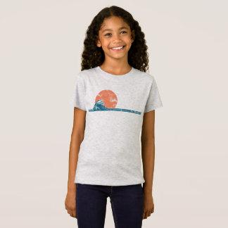 サーファーのビーチのヴィンテージのスタイルの女の子のワイシャツ Tシャツ