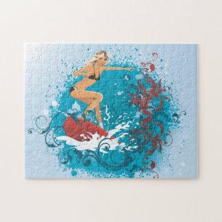 サーファーの女の子1のパズル ジグソーパズル