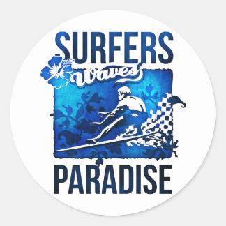 サーファーの楽園 ラウンドシール