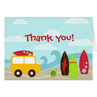 サーファーの波の誕生会はメッセージカード感謝していしています カード