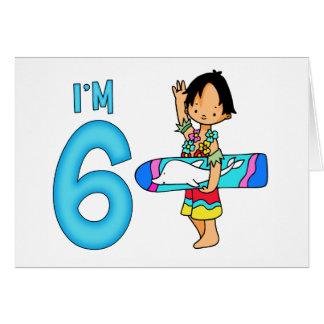 サーファーの男の第6誕生日 カード
