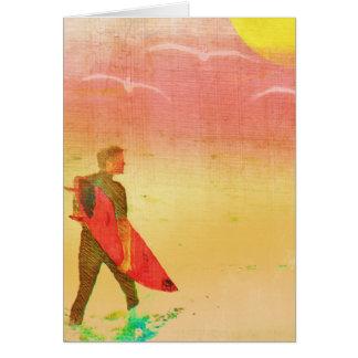 サーファーの男-ヴィンテージポスタースタイル カード