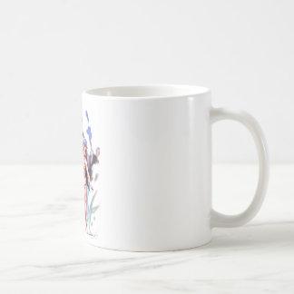 サーファーの美しい及び波獣 コーヒーマグカップ