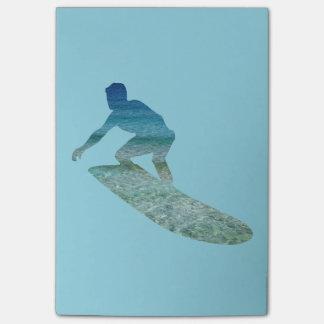 サーファーのSurfboardingの海の抽象芸術のポスト・イット ポストイット