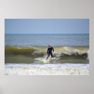 サーファーシリーズ-サーファーの波 ポスター