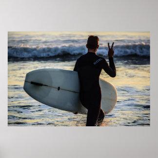 サーファーシリーズ-平和! ポスター