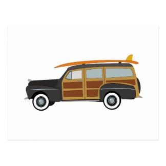 サーファー車 ポストカード