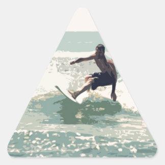 サーファー 三角形シール