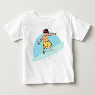 サーフィンのおもしろい ベビーTシャツ
