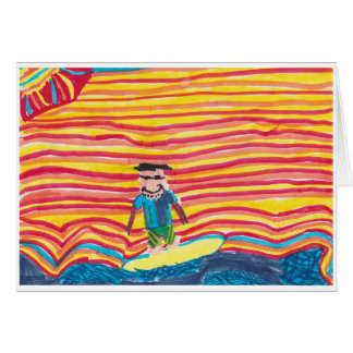 サーフィンのお父さん カード