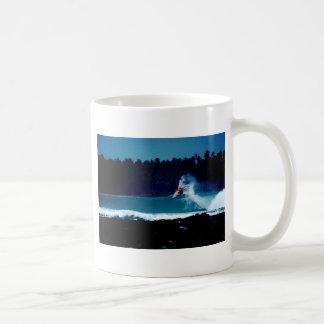 サーフィンのインドネシアのniasの空気逆のblowtail コーヒーマグカップ