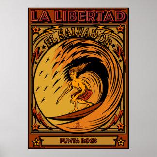 サーフィンのエルサルバドルのLA LIBERTAD ポスター