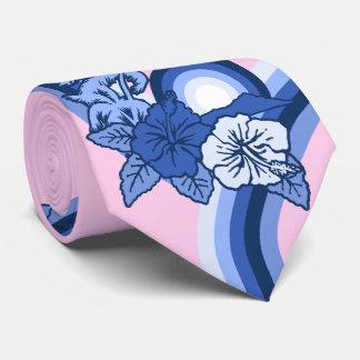 サーフィンのサファリの印刷されるハワイのハイビスカスの両面 オリジナルネクタイ