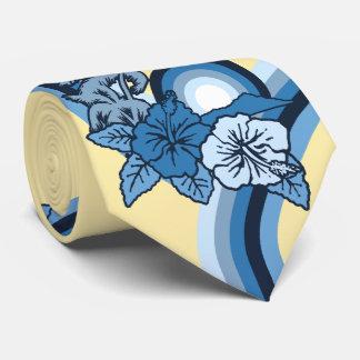 サーフィンのサファリの印刷されるハワイのハイビスカスの両面 ネクタイ