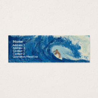 サーフィンのサーファーの管の乗車の海洋波のプロフィールカード スキニー名刺