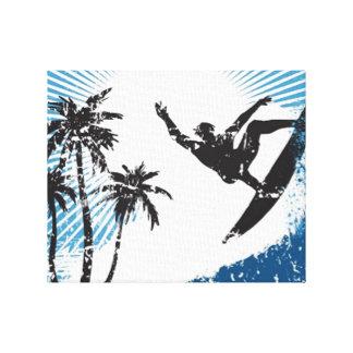 サーフィンのサーファー キャンバスプリント