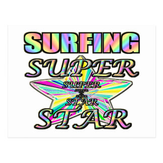 サーフィンのスーパースター ポストカード