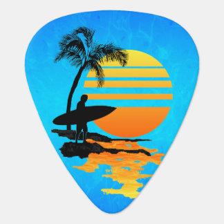 サーフィンの日の出 ギターピック