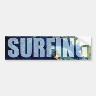 サーフィンの波のウォーター・スポーツのバンパーステッカーのアートワーク バンパーステッカー