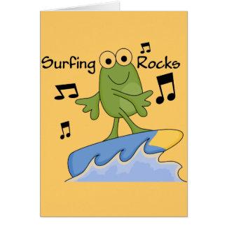 サーフィンの石-カエルのTシャツおよびギフト カード
