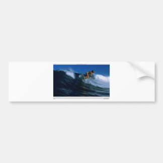 サーフィンの鳥 バンパーステッカー