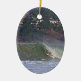 サーフィンメキシコ 陶器製卵型オーナメント