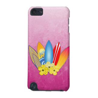 サーフボードおよびハイビスカスの花 iPod TOUCH 5G ケース