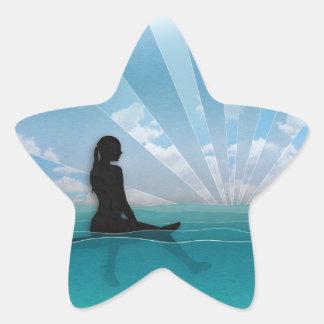 サーフボードからの眺め 星シール