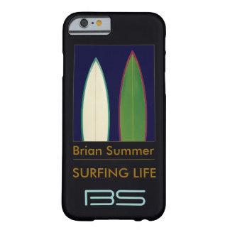 サーフボードのパーソナライズされたな波テーマ BARELY THERE iPhone 6 ケース