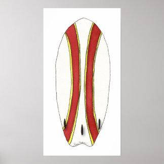 サーフボードのポスター及びプリント ポスター