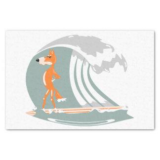 サーフボードの漫画のキツネ 薄葉紙