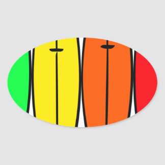 サーフボード 楕円形シール