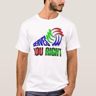サーブ右の Tシャツ