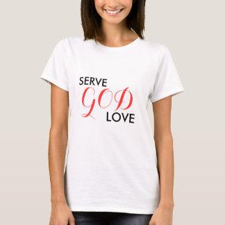 サーブ、愛神のティー Tシャツ