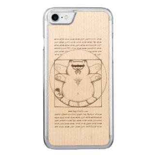 サーベル歯付きVirtuvian: 木 Carved iPhone 8/7 ケース