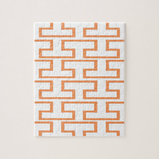 サーモンピンクおよび白い煉瓦 ジグソーパズル