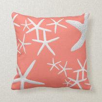 サーモンピンクのヒトデの装飾的な装飾用クッション