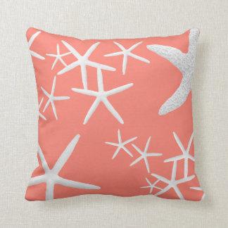 サーモンピンクのヒトデの装飾的な装飾用クッション クッション