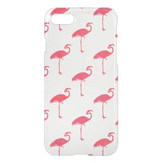 サーモンピンクのフラミンゴの水彩画の熱帯フラミンゴ iPhone 7ケース