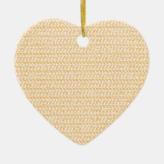 サーモンピンクのモモの織り方の網の一見 陶器製ハート型オーナメント