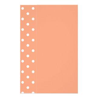 サーモンピンクの日没のテンプレート 便箋