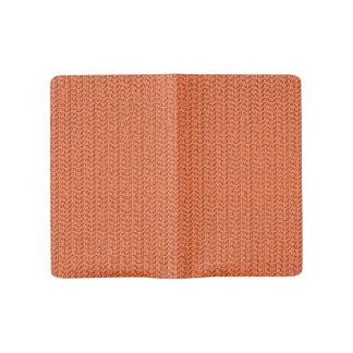 サーモンピンクの珊瑚の織り方の網の一見 ラージMoleskineノートブック